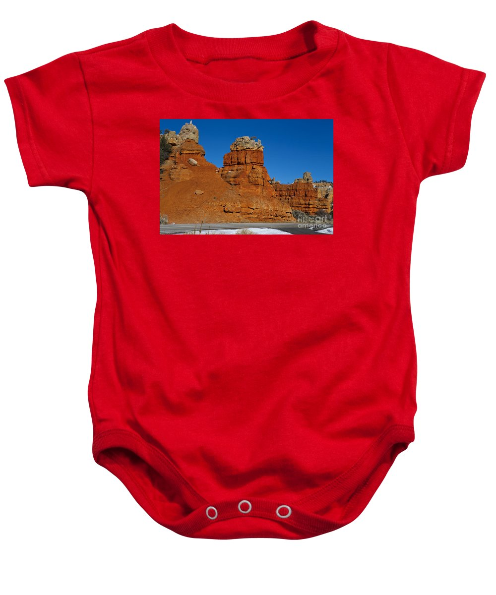 Dixie National Forest Baby Onesie featuring the photograph Red Canyon Dixie National Forest by Jason O Watson