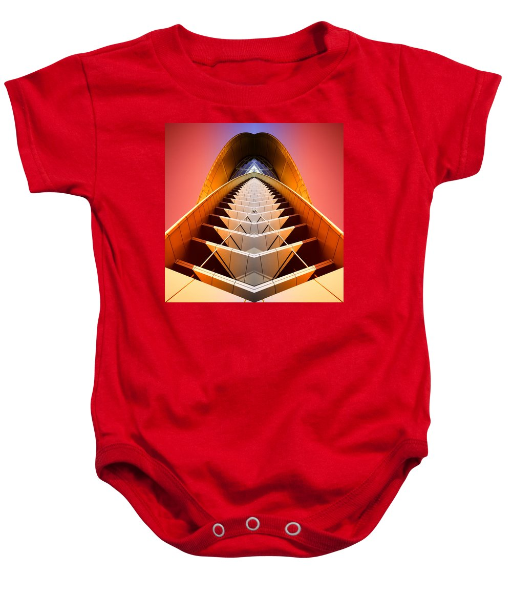 Abstract Baby Onesie featuring the photograph Red Shift by Wayne Sherriff