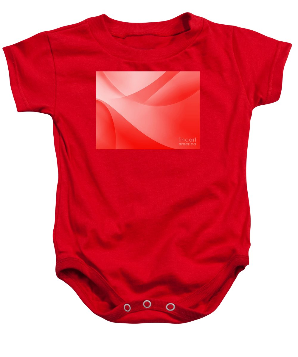 Abstract Baby Onesie featuring the digital art Red Wallpaper by Henrik Lehnerer