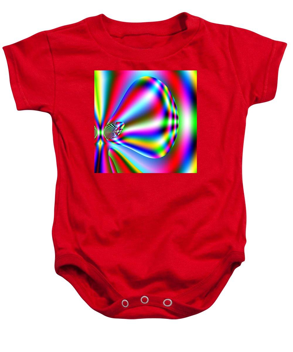Red Baby Onesie featuring the digital art Reendru by John Holfinger