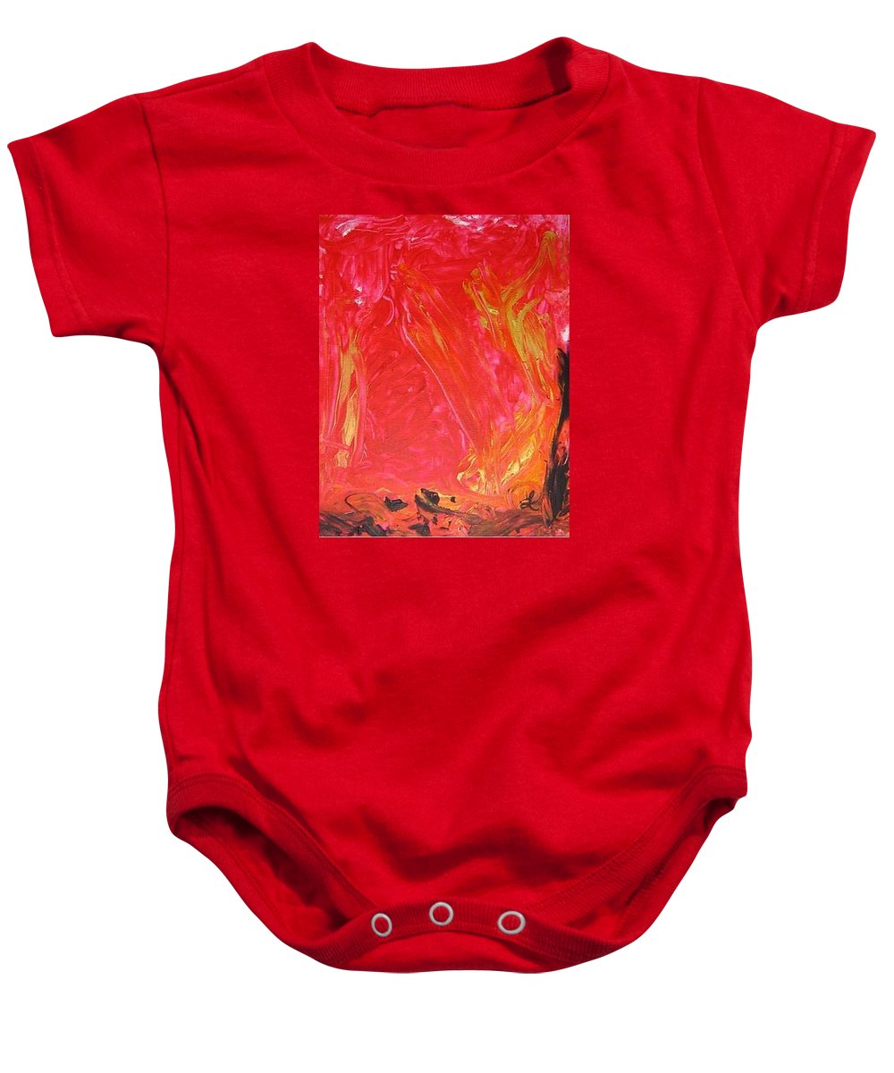 Strength Baby Onesie featuring the mixed media Rising Up I by Luz Elena Aponte