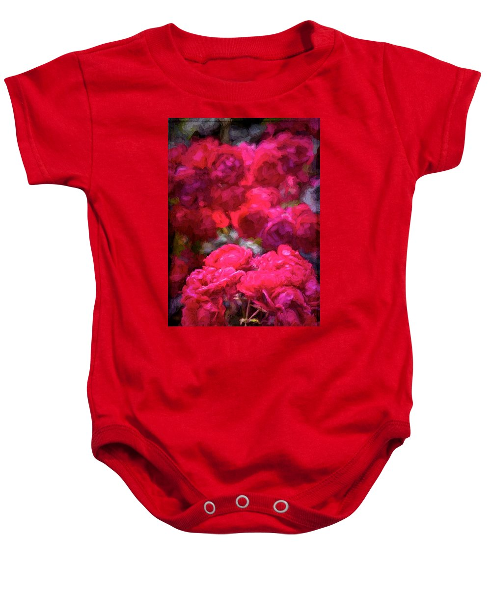 Floral Baby Onesie featuring the photograph Rose 134 by Pamela Cooper