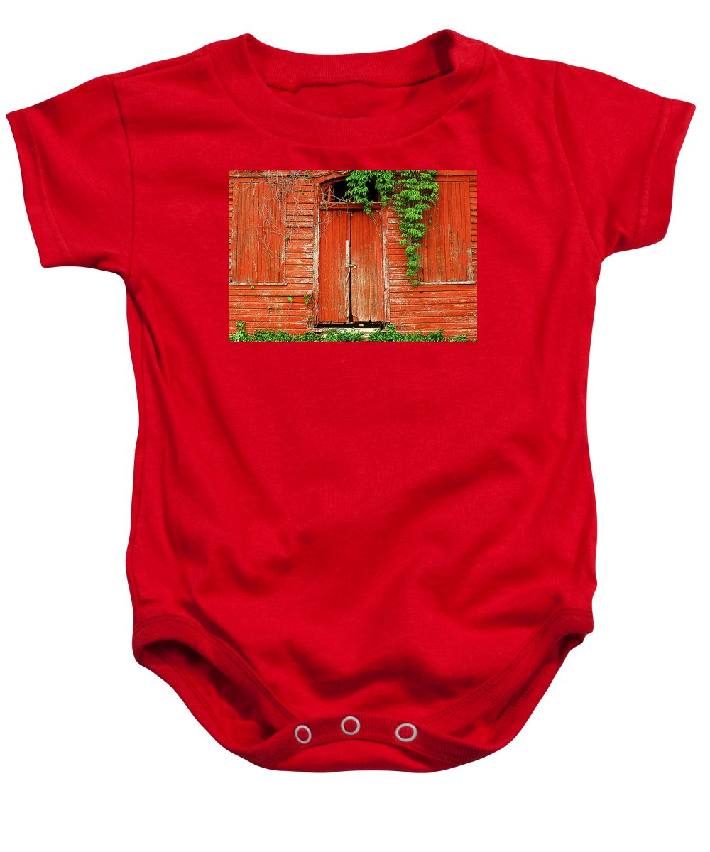 Fine Art Baby Onesie featuring the photograph Secrets by Rodney Lee Williams