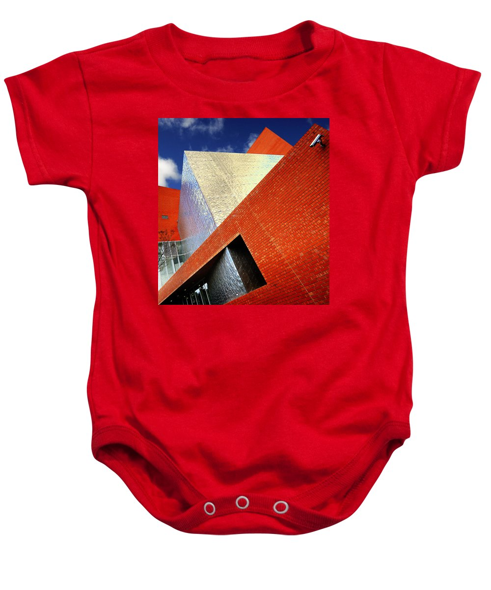 Architecture Baby Onesie featuring the photograph Sharps by Wayne Sherriff