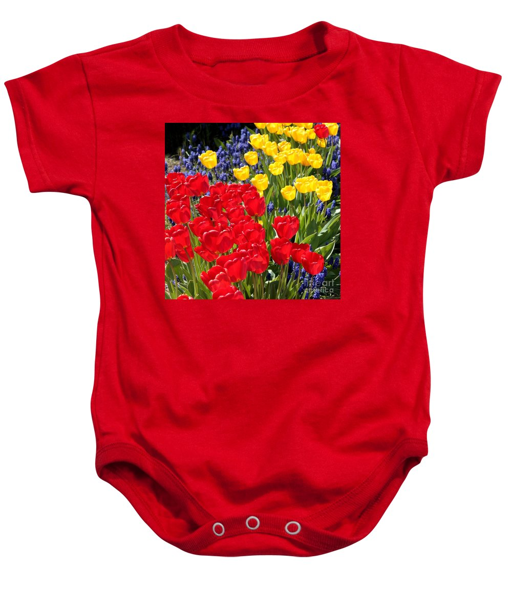 Spring Baby Onesie featuring the photograph Spring Sunshine by Carol Groenen