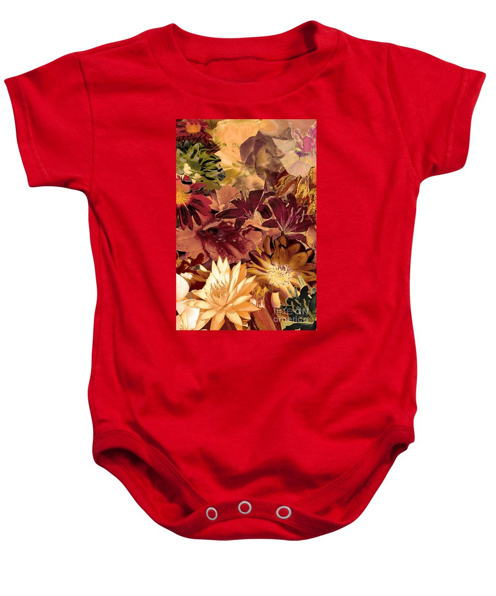 Springtime Baby Onesie featuring the digital art Springtime Melody Two by Paul Gentille
