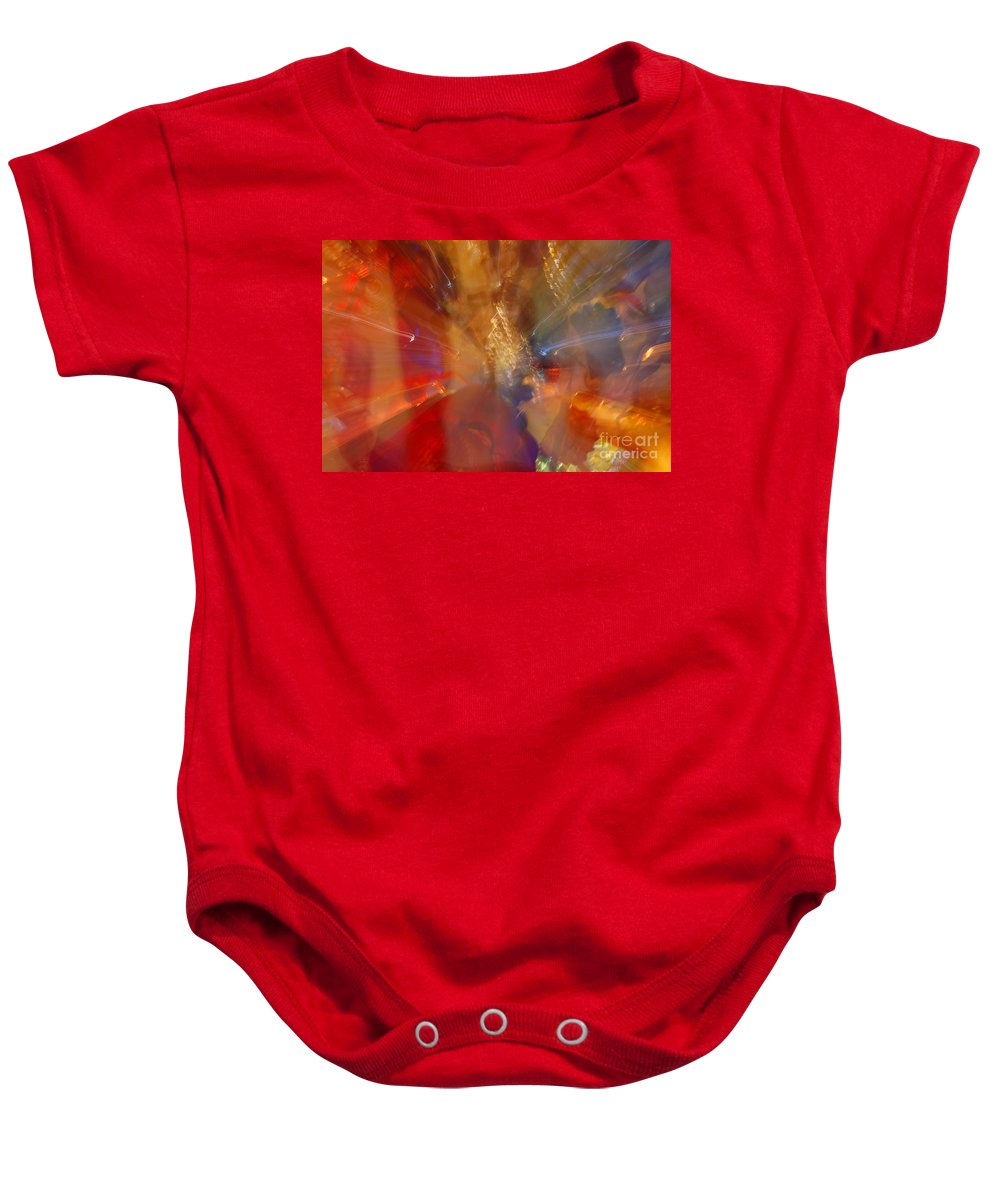 Katis Baby Onesie featuring the photograph Spun Crystal by Randy J Heath