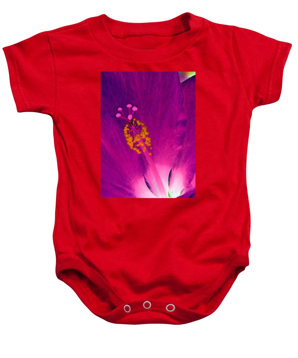 Flower Baby Onesie featuring the photograph Stigma - Photopower 1227 by Pamela Critchlow
