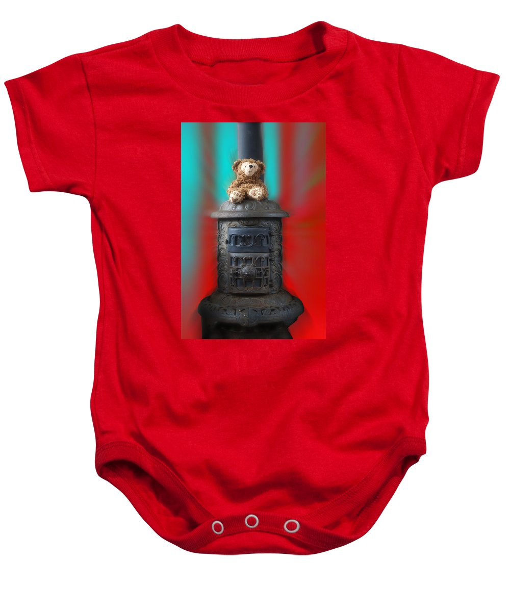 Fantasy Baby Onesie featuring the photograph Stove Top Bear by Thomas Woolworth