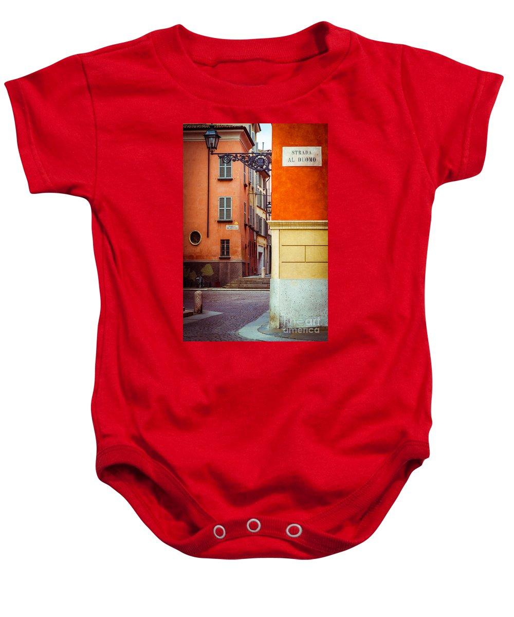 Italian Baby Onesie featuring the photograph Strada Al Duomo Duomo Street by Silvia Ganora