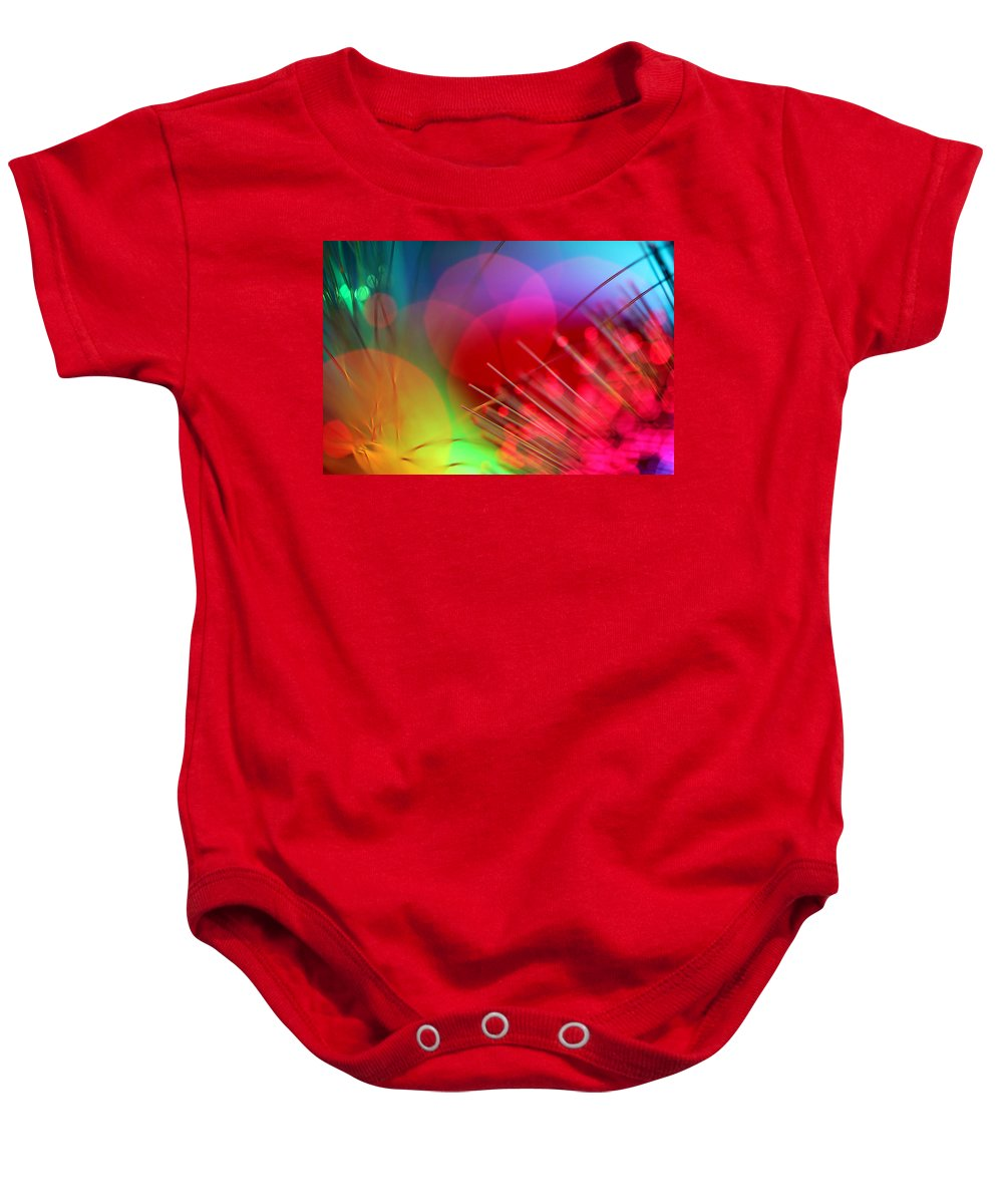 Abstract Baby Onesie featuring the photograph Strange Days by Dazzle Zazz
