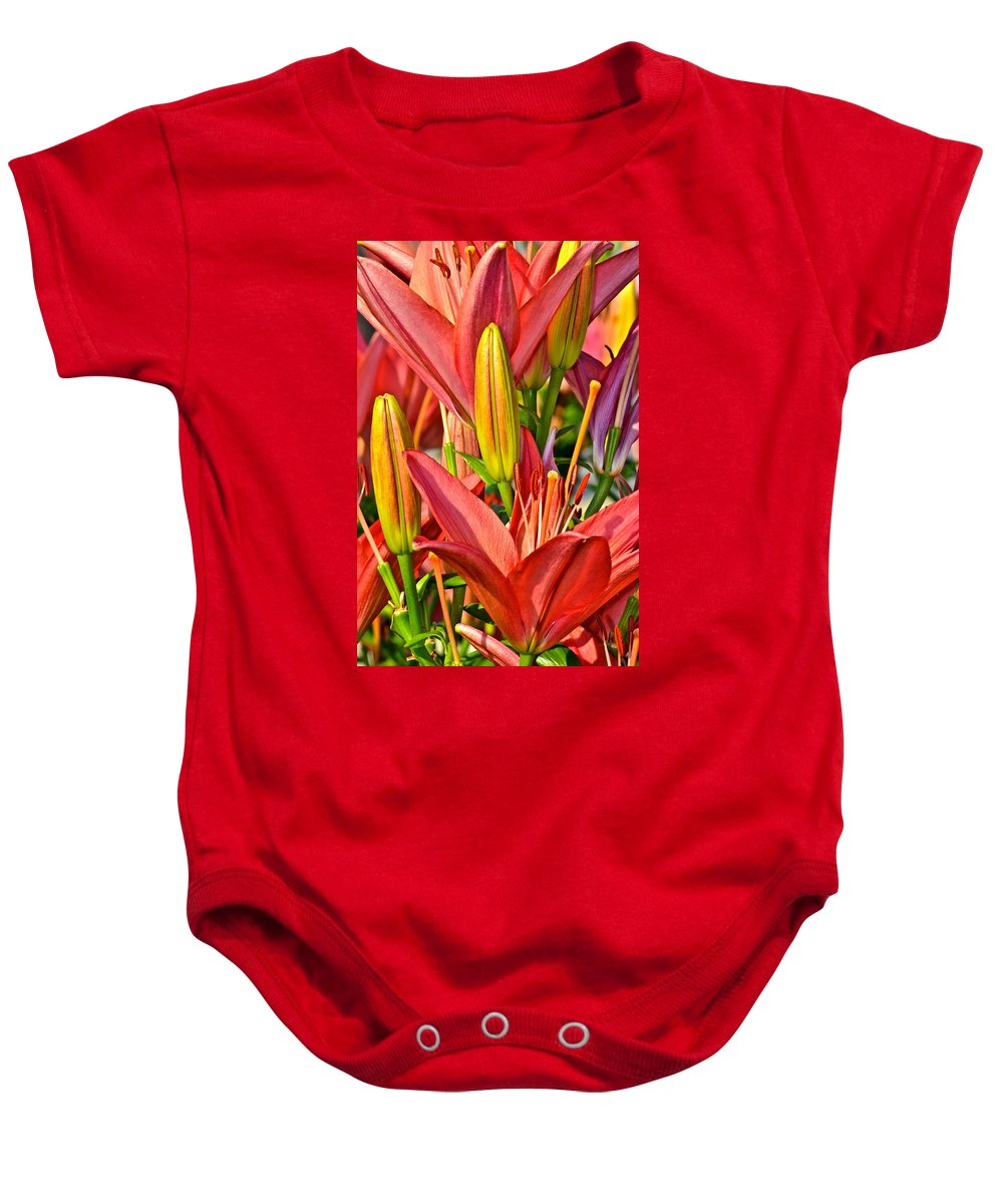 Summer Baby Onesie featuring the photograph Summer Bouquet by Frozen in Time Fine Art Photography