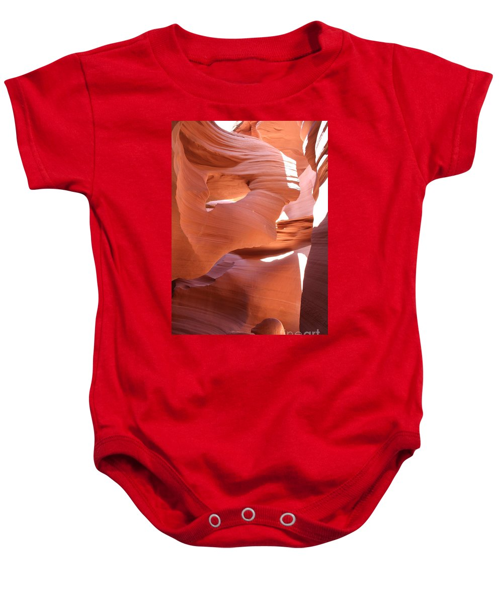 Canyon Baby Onesie featuring the photograph Sunlit Canyon by Christiane Schulze Art And Photography