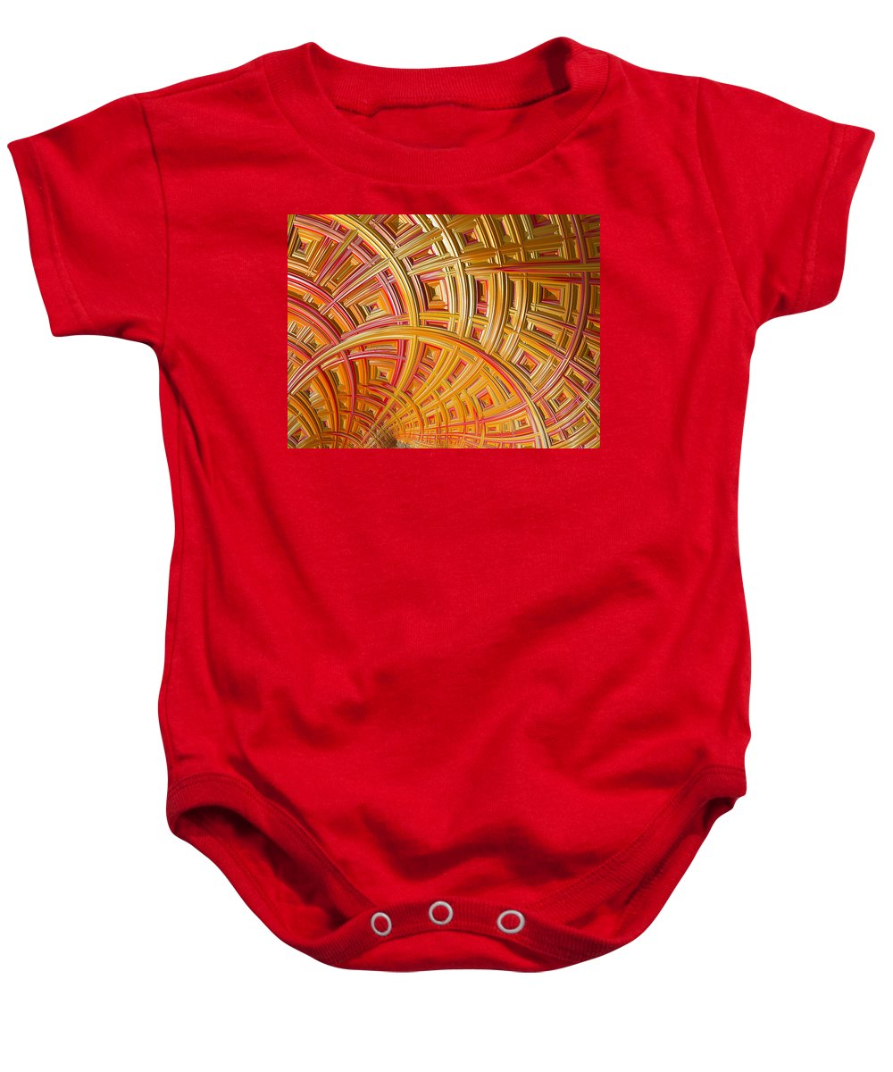 Frax Baby Onesie featuring the photograph Swirling Rectangles by Sharon M Connolly