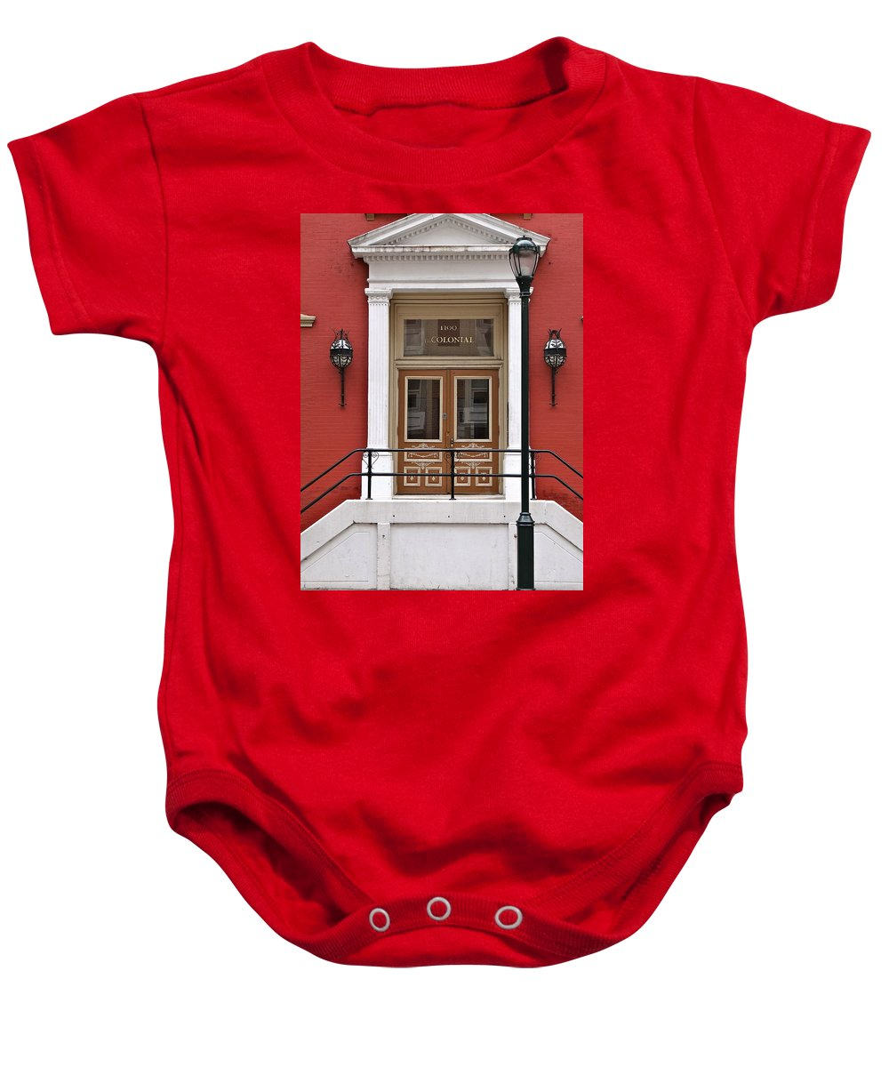 Philadelphia Architecture Baby Onesie featuring the photograph The Colonial by Ira Shander