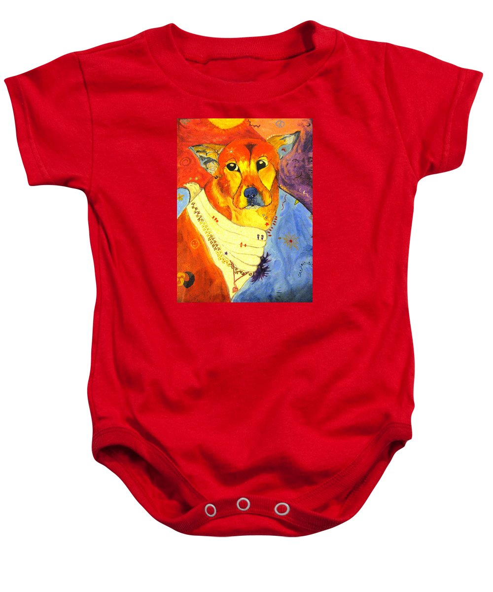 The Heart That Rescues Baby Onesie featuring the painting The Heart That Rescues by Michelle Reid