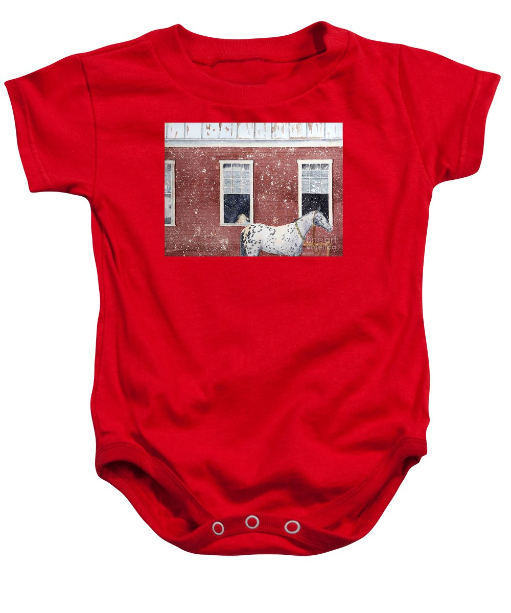 Horses Baby Onesie featuring the painting The Ride Home by LeAnne Sowa