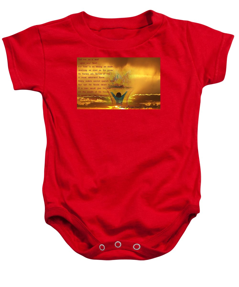 Sacrifice Of Praise Baby Onesie featuring the digital art The Sacrifice Of Praise by Jewell McChesney