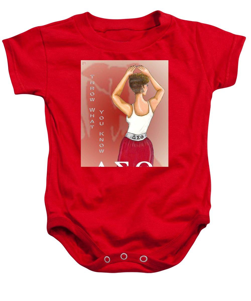 Throw What You Know Series - Delta Sigma Theta Baby Onesie