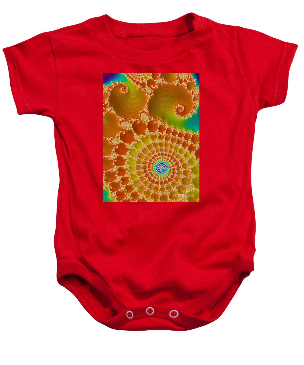 Rainbow Baby Onesie featuring the digital art Tie Dye by Heidi Smith