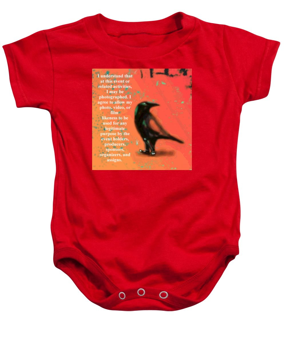 Quotes Baby Onesie featuring the photograph Understanding Corvus by Marcello Cicchini