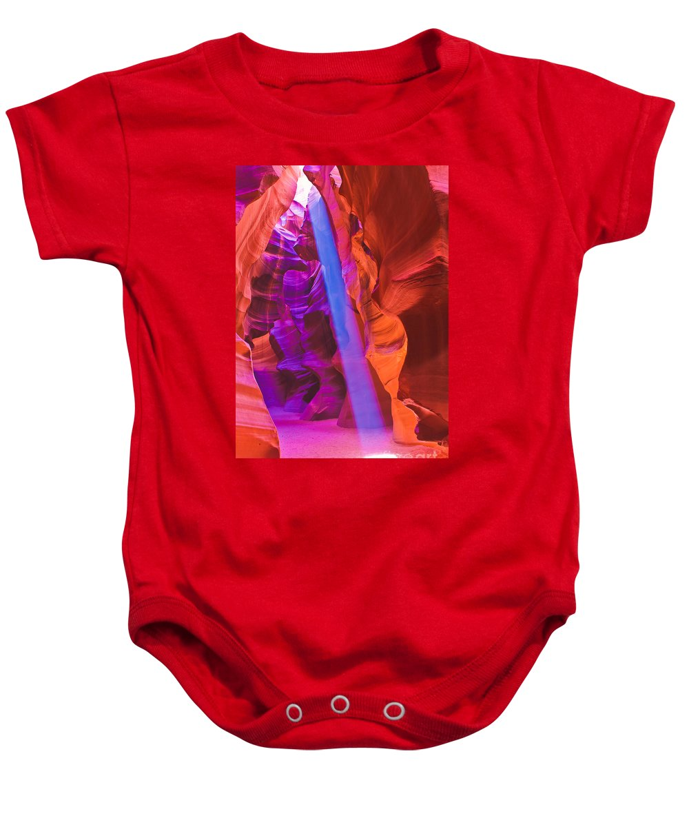Antelope Canyon Baby Onesie featuring the photograph Upper Canyon 20 by Larry White