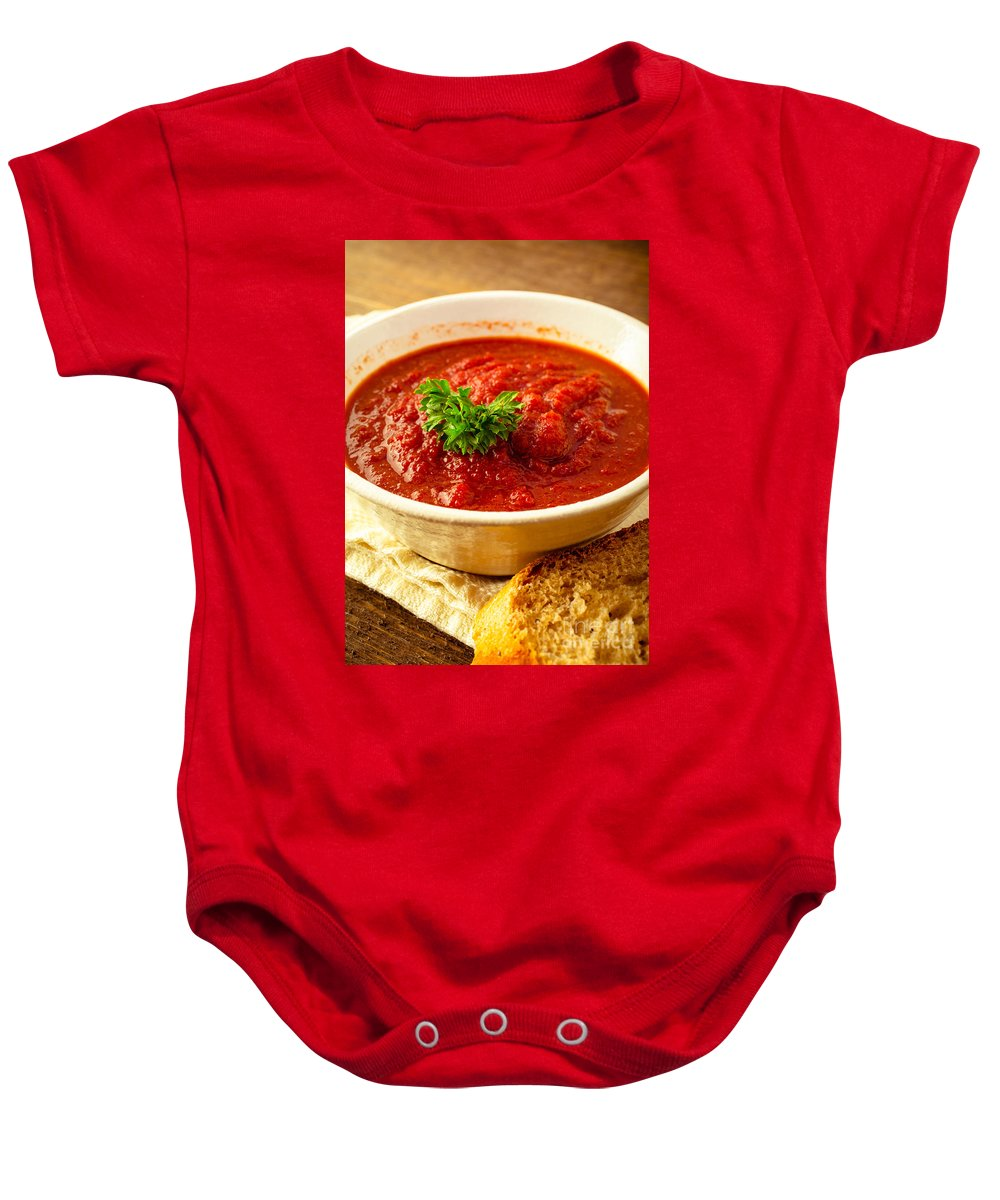 Purple Baby Onesie featuring the photograph Vegetable Soup by Edward Fielding