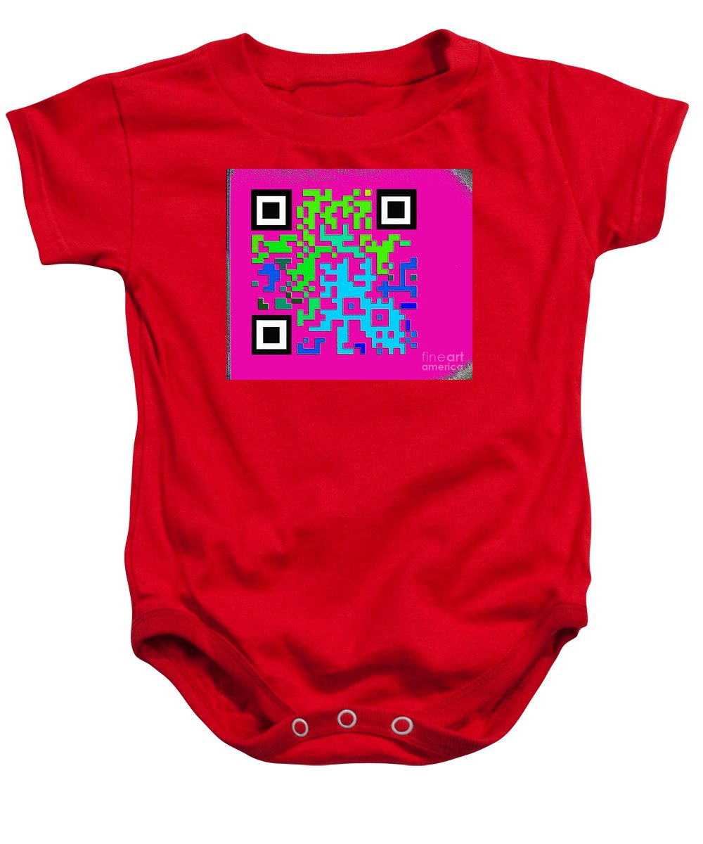 Pattern Recognition Baby Onesie featuring the digital art What Is Fine Art Quick Response by Contemporary Luxury Fine Art