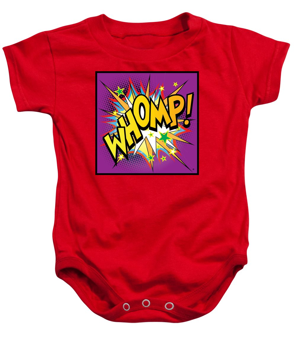 Pop Art Baby Onesie featuring the painting Whomp by Gary Grayson