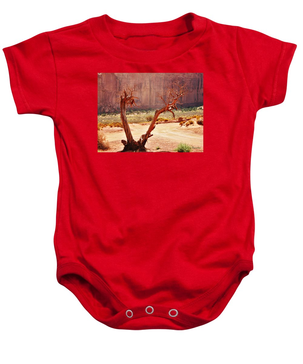 Sedona Baby Onesie featuring the photograph Witch Way Did They Go? by Sylvia Thornton