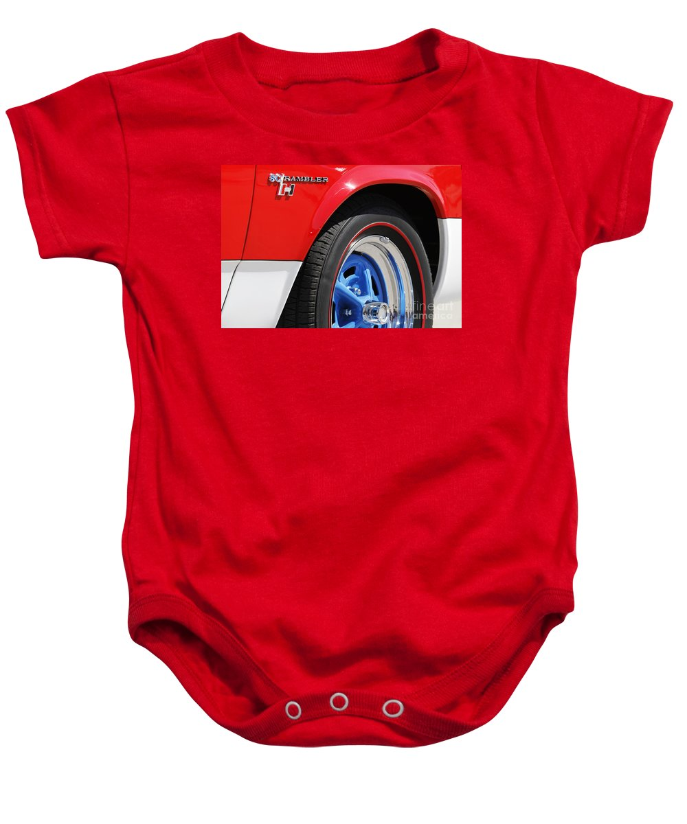Transportation Baby Onesie featuring the photograph Red White And Blue by Dennis Hedberg