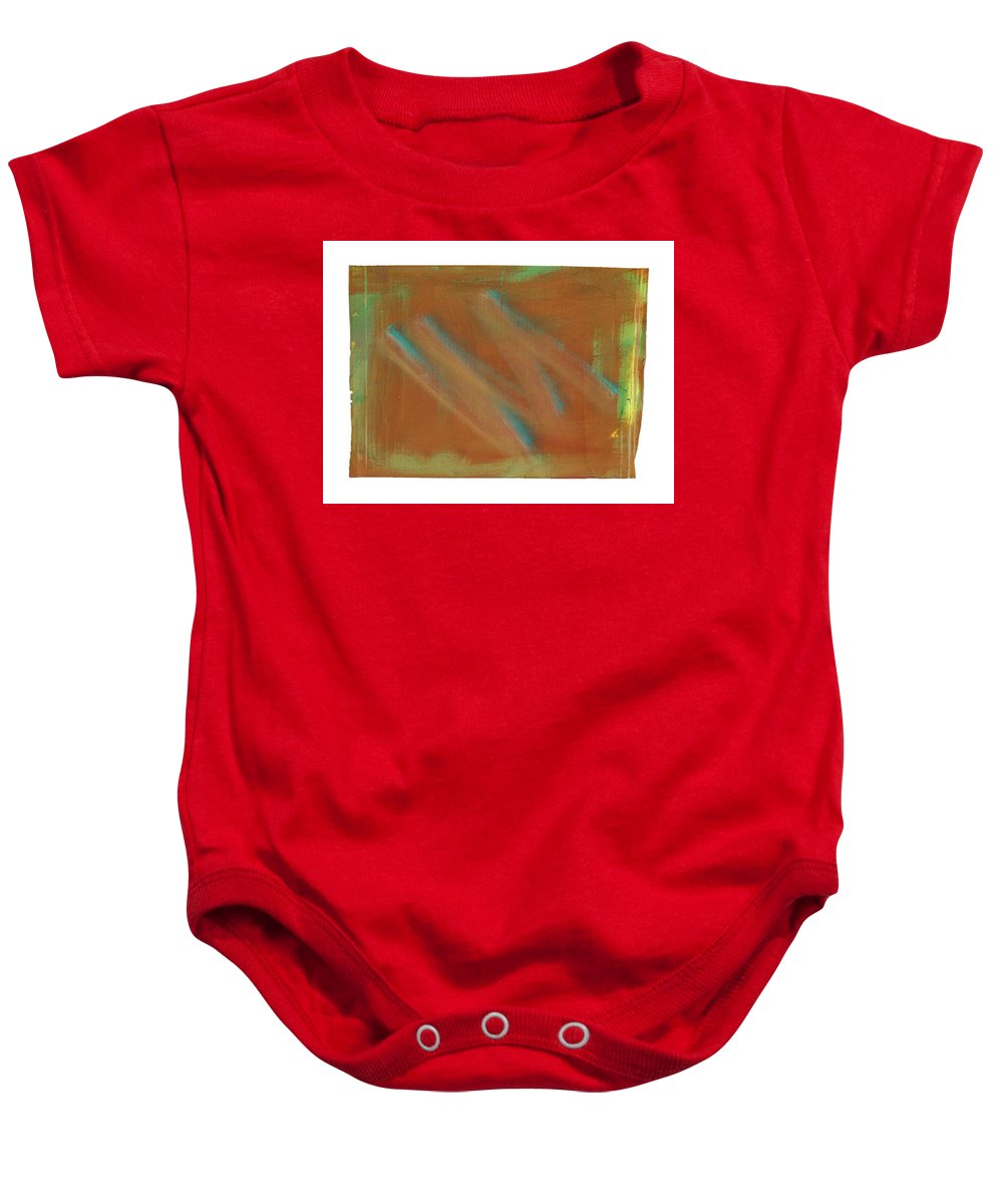 Tsunami Baby Onesie featuring the painting Tsunami Iv by Charles Stuart