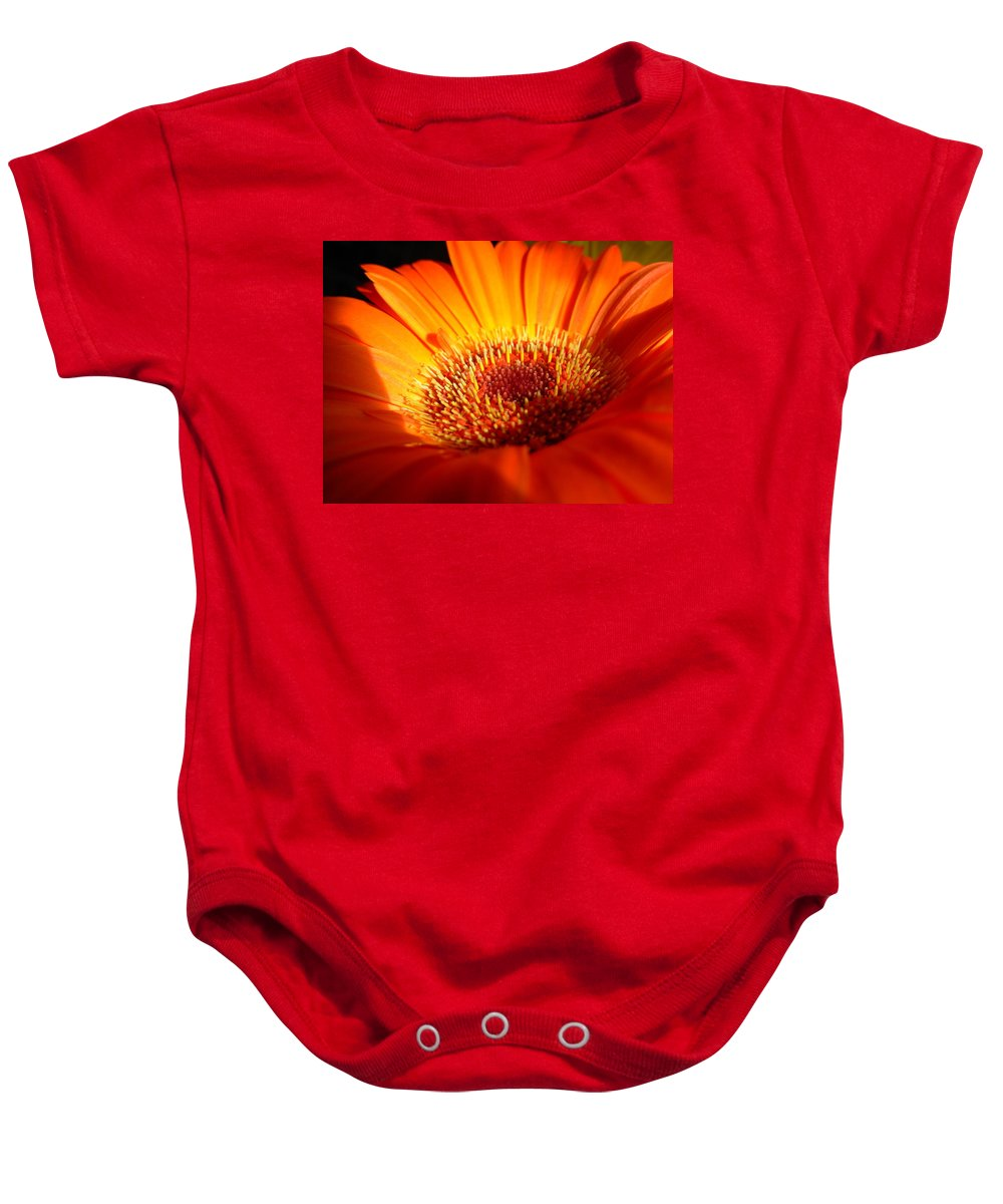 Gerbera Photographs Baby Onesie featuring the photograph 1219 by Kimberlie Gerner