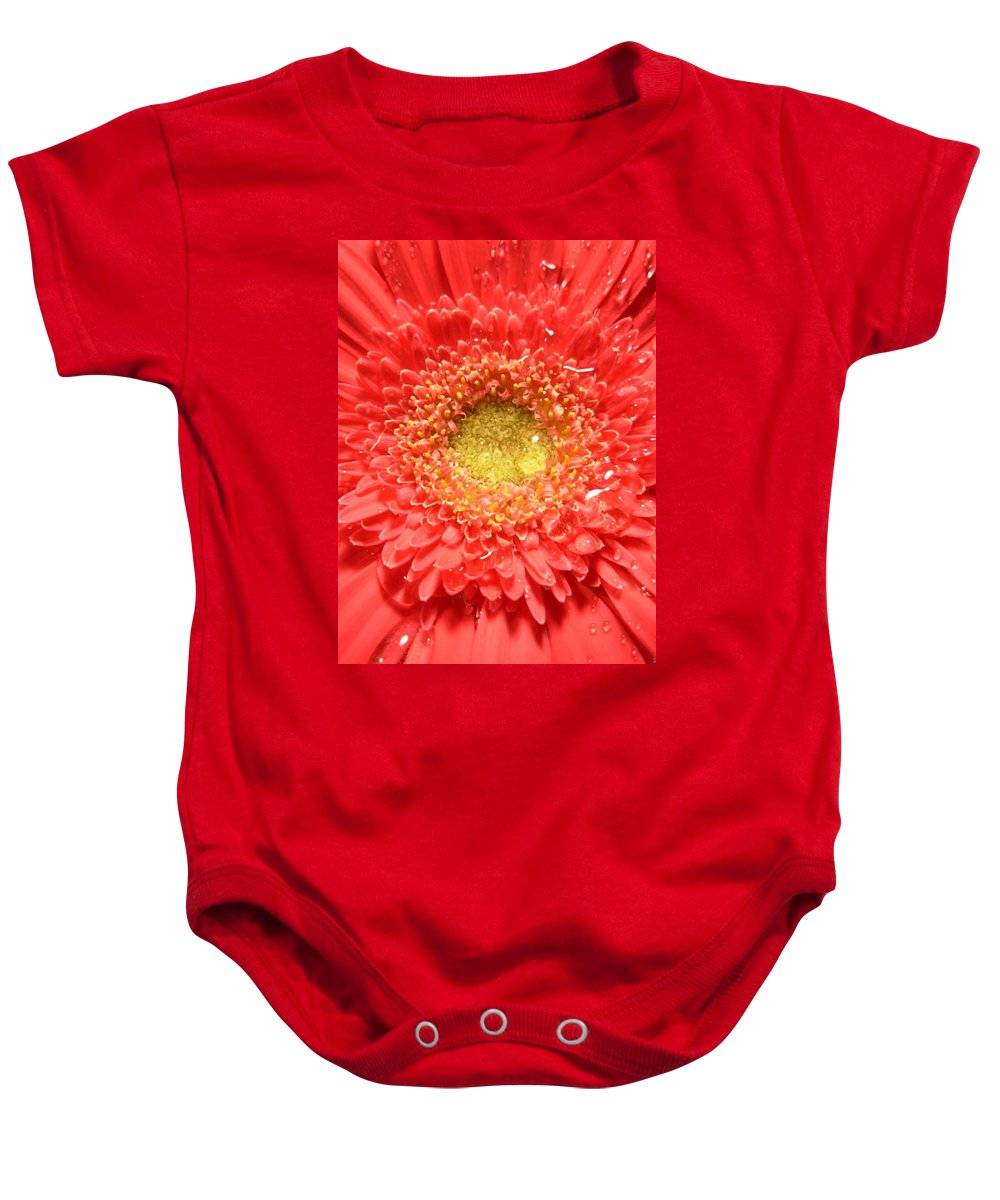 Gerbera Photographs Baby Onesie featuring the photograph 3255 by Kimberlie Gerner