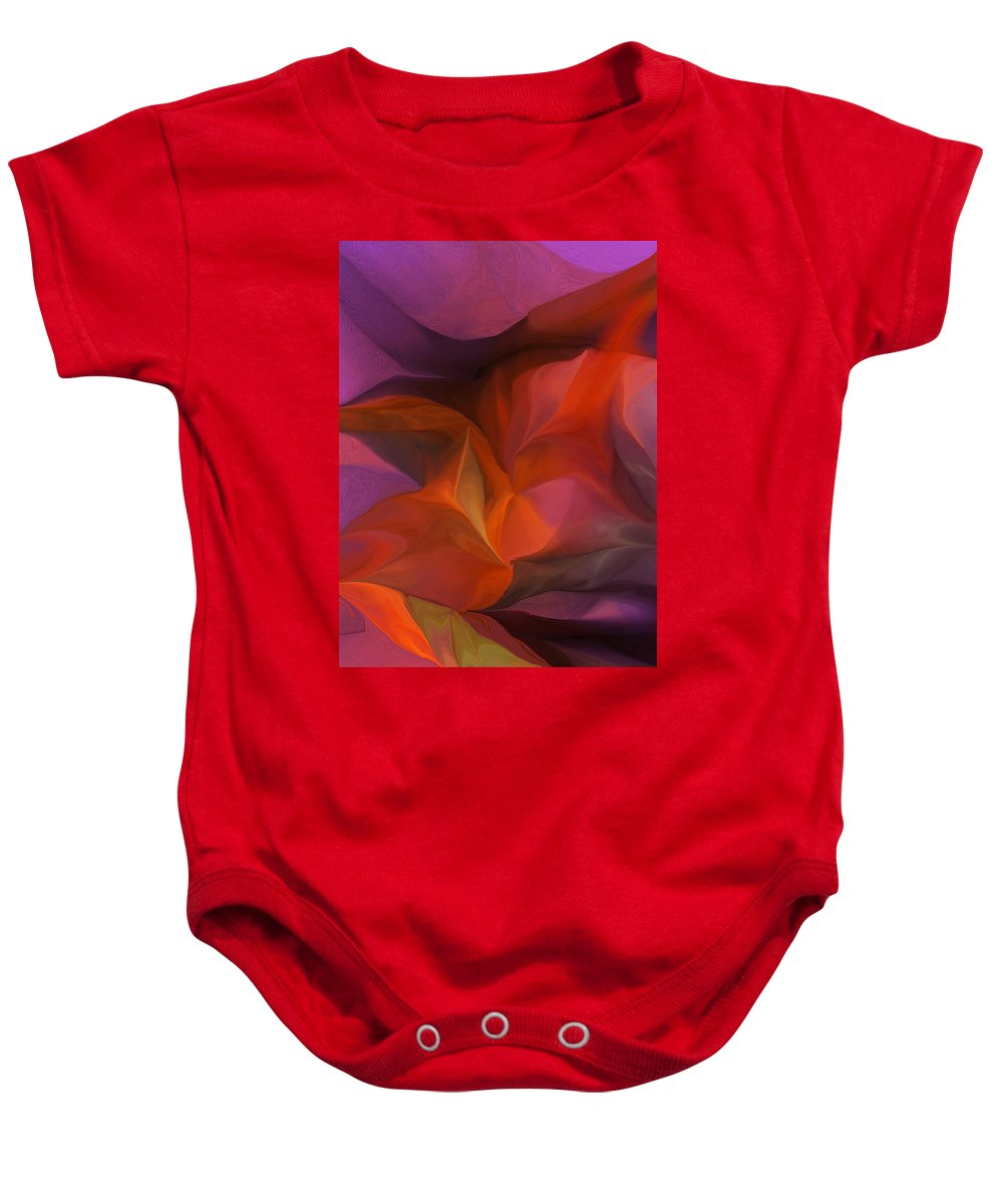 Fine Art Baby Onesie featuring the digital art Abstract 071812 by David Lane