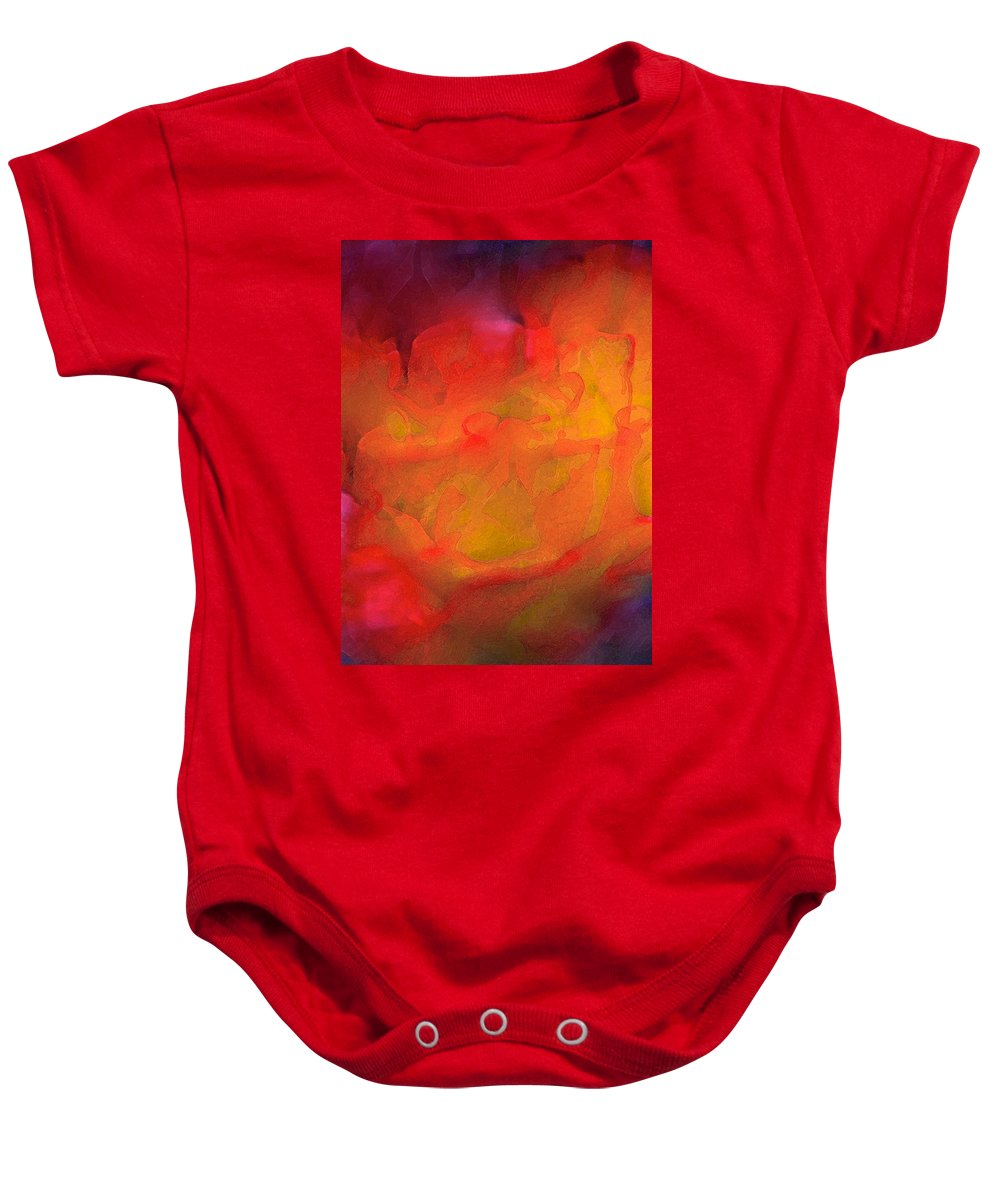 Abstract Baby Onesie featuring the photograph Abstract 279 by Pamela Cooper