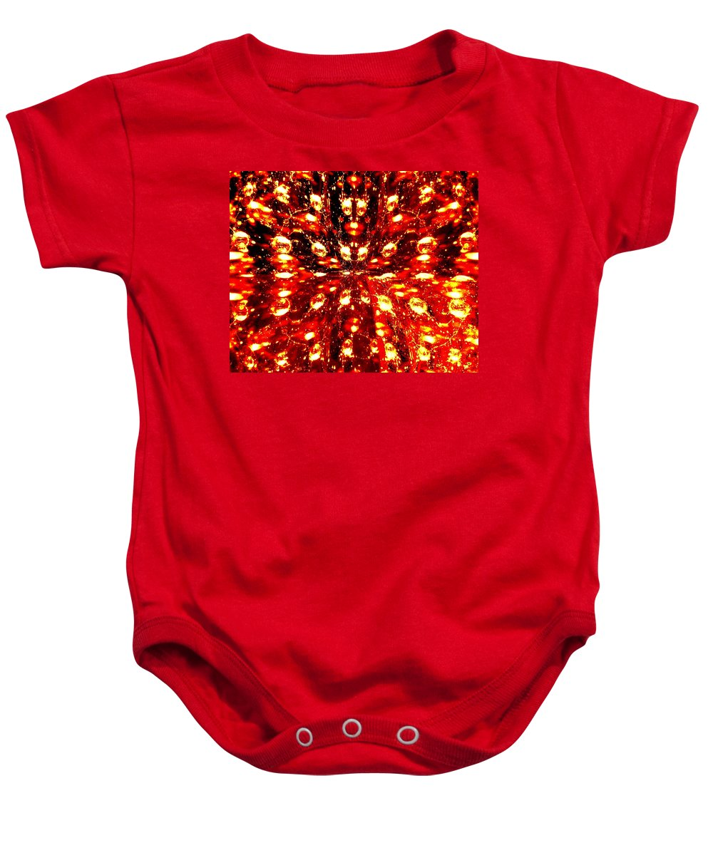 Abstract Fusion Baby Onesie featuring the digital art Abstract Fusion 76 by Will Borden