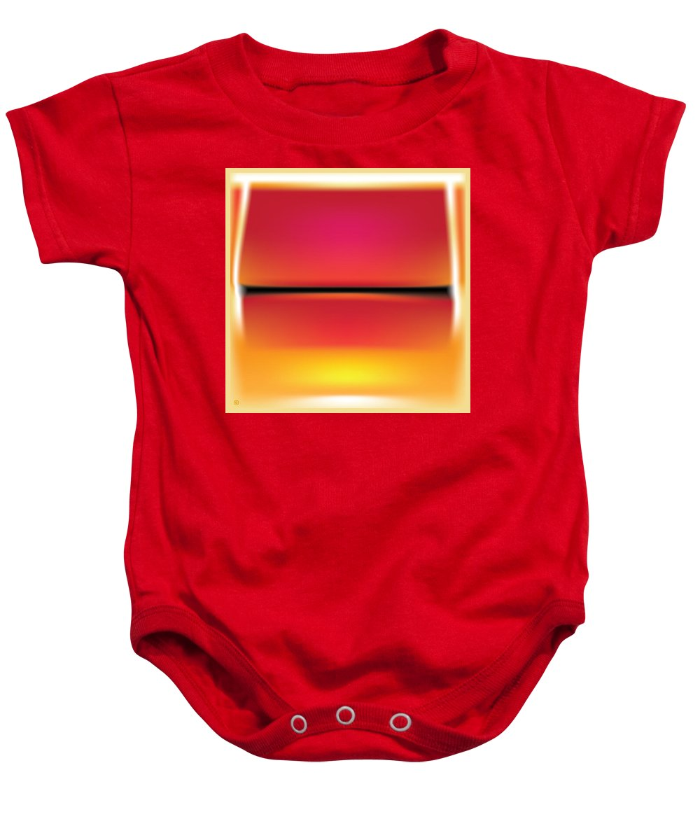 Modern Art Baby Onesie featuring the painting After Rothko by Gary Grayson