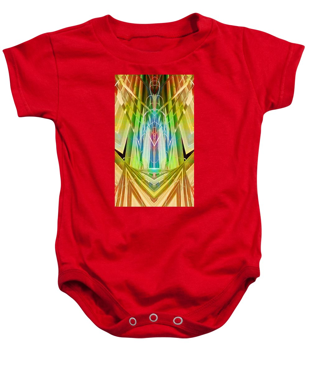 Art Deco Baby Onesie featuring the digital art Art Deco Reredos by Francesa Miller