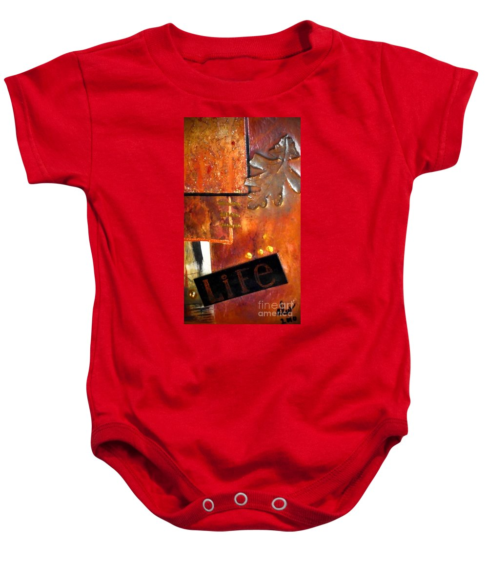 Greeting Cards Baby Onesie featuring the photograph Autumn Life by Angela L Walker