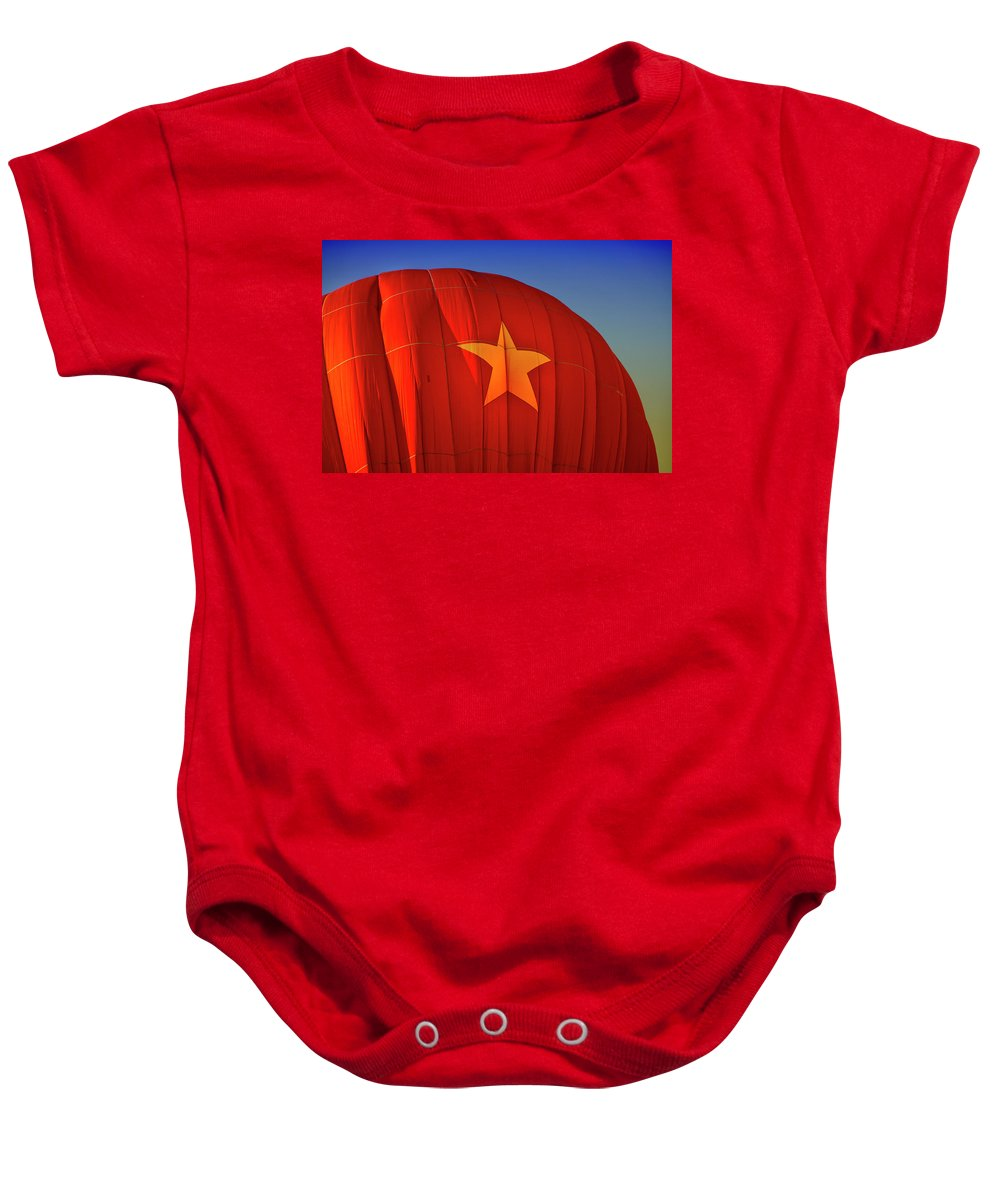Hot Air Balloon Baby Onesie featuring the digital art Back In The Ussr by Gary Baird