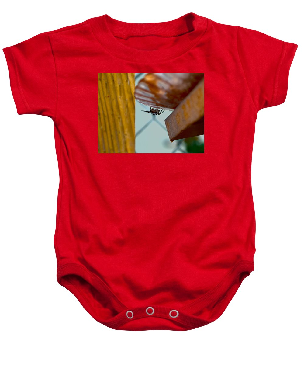 Spider Baby Onesie featuring the photograph Boo by Stephanie Haertling
