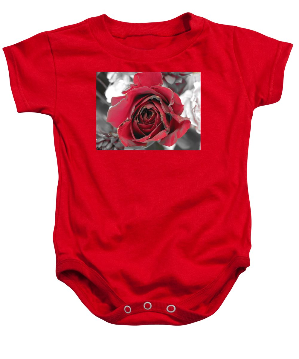 Baby Onesie featuring the photograph Burning Desire by Michele Nelson