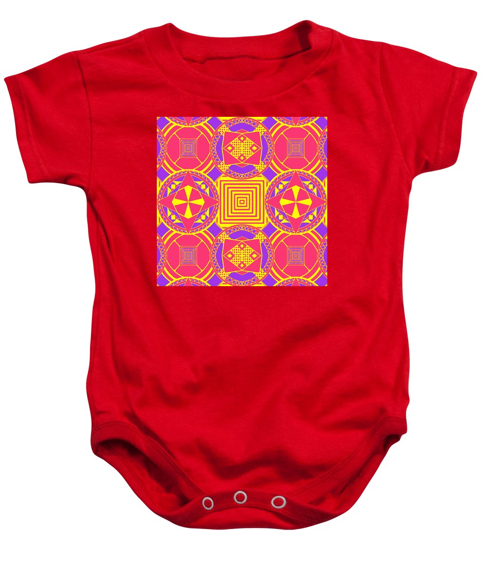 Digital Art Baby Onesie featuring the digital art Candy Wrapper by Sumit Mehndiratta