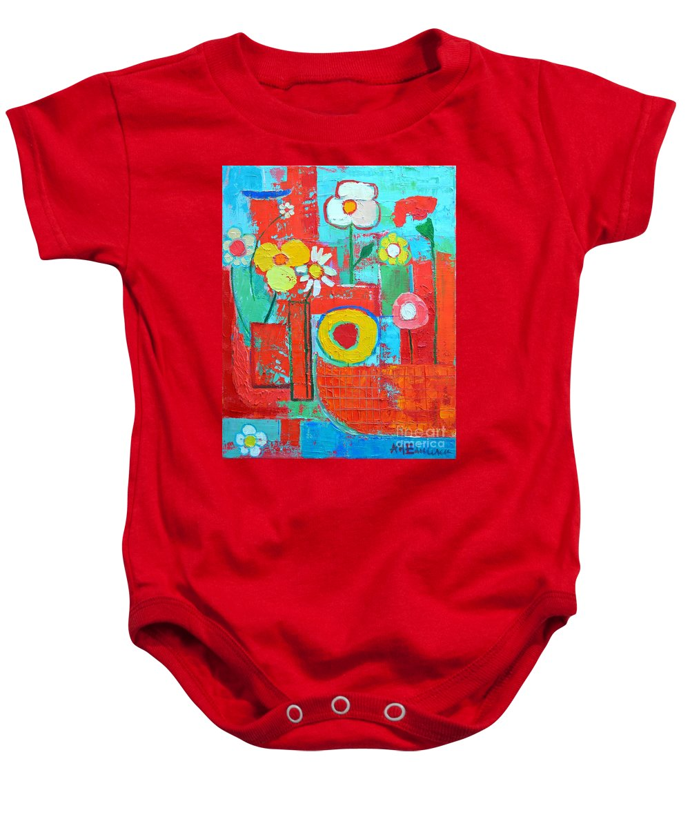 Summer Baby Onesie featuring the painting Colorful Summer by Ana Maria Edulescu
