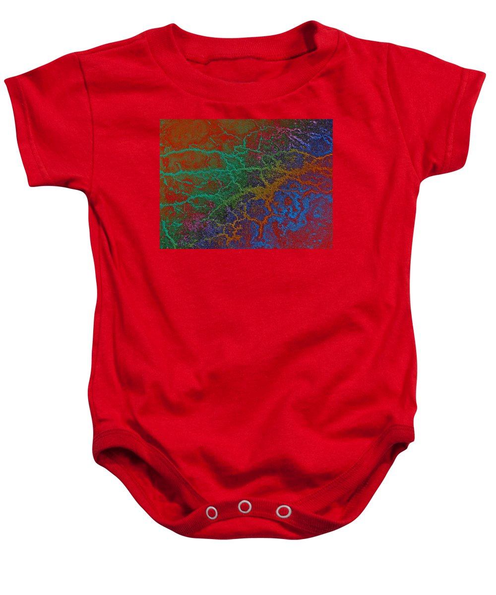 Ashphalt Baby Onesie featuring the photograph Cracks by David Pantuso