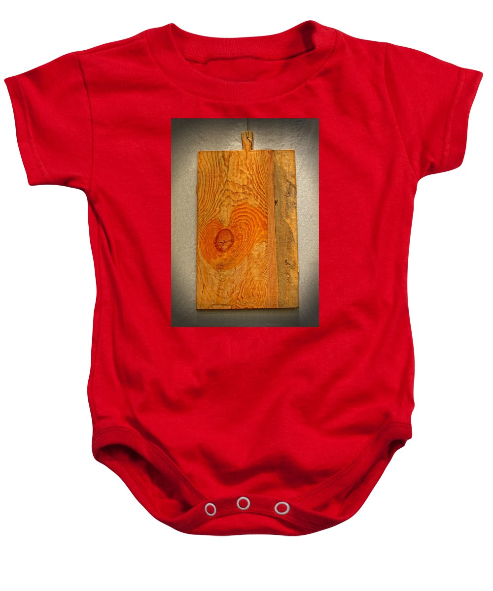 Cutting Board Baby Onesie featuring the photograph Cutting Board by Dave Mills