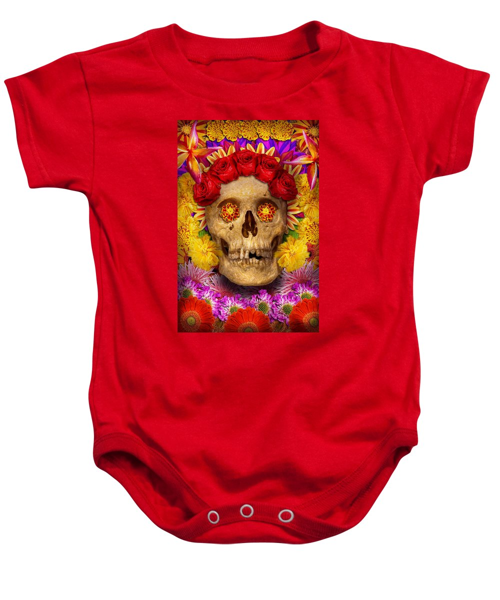 Day Of The Dead Baby Onesie featuring the photograph Day Of The Dead - Dia De Los Muertos by Mike Savad