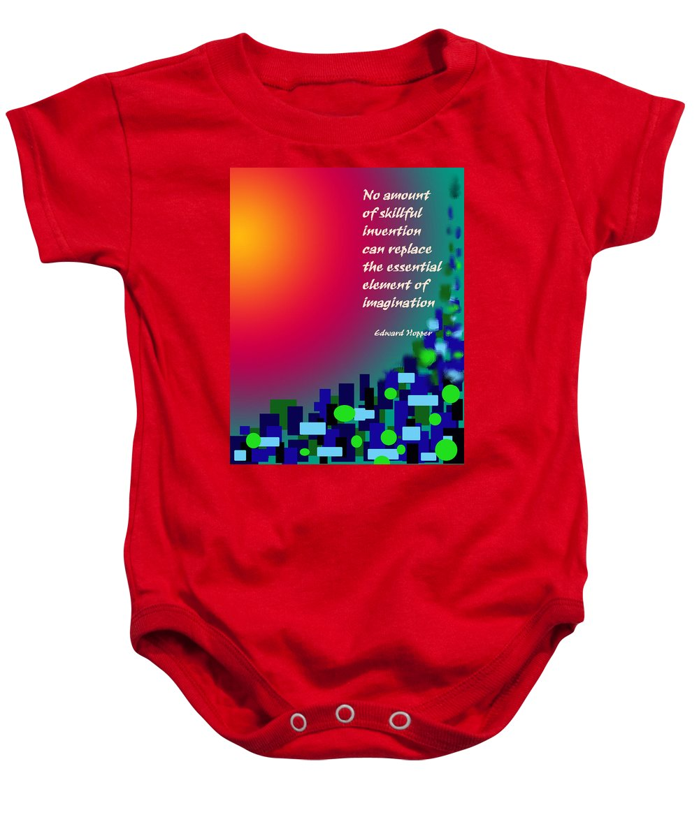 Abstract Baby Onesie featuring the digital art Essential Elements by Ian MacDonald