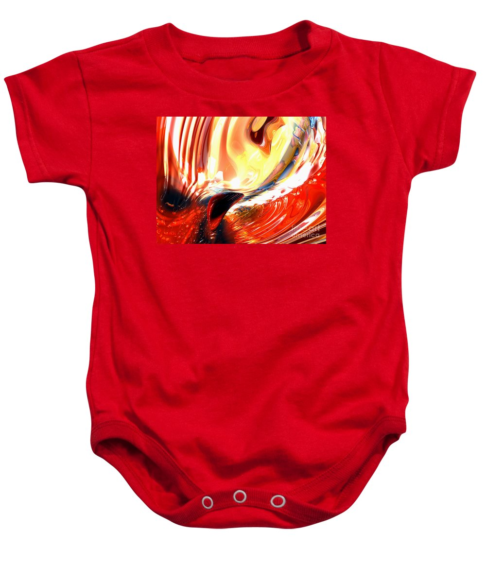 3d Baby Onesie featuring the digital art Evil Intent Abstract by Alexander Butler
